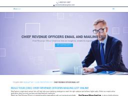 CFO Email List | CFO Mailing Address Database | CFO Contact List