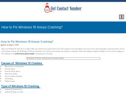 Troubleshoot Windows 10 Keeps Crashing | OpenTheDoor