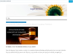 legaladvicesin.wordpress.com/2020/01/17/curative-petition-why-do-you-need-a-professional-lawyer/